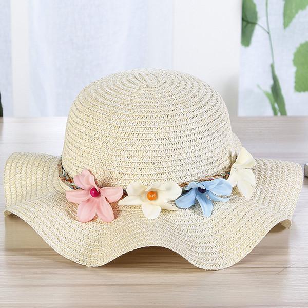 Compre Panama Summer Flower Sombreros Para El Sol Para Mujeres Wide ...