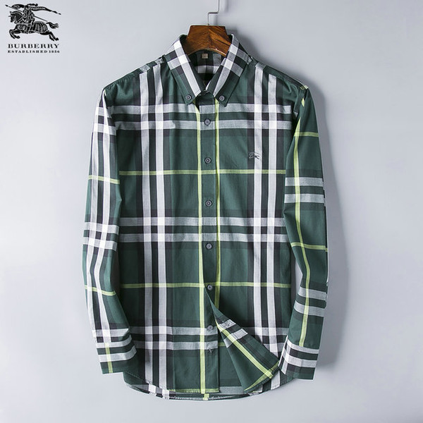 ddad3ded079 2019 New Men'S Casual Shirts Business Check Super Invincible Handsome Long  Sleeve Check Shirt Size S XXXL 90 5 From Samma01, $38.58 | DHgate.Com