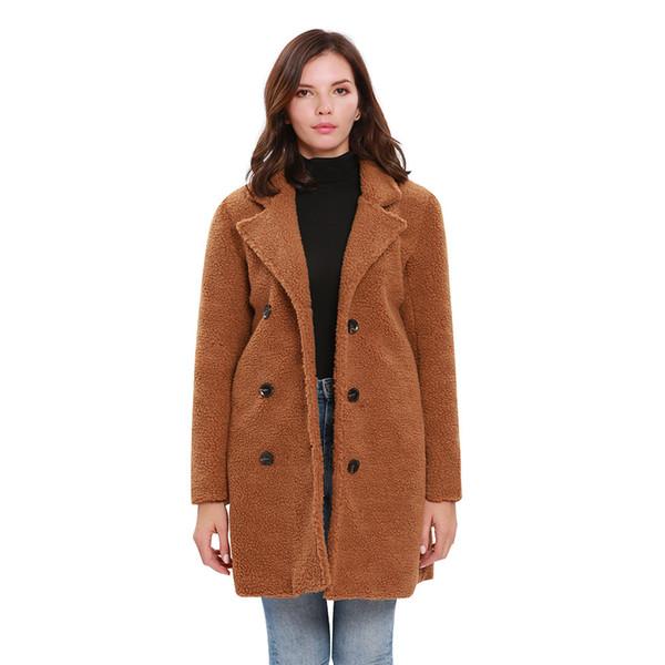 Langen Lose Wölbungs Mantel Doppelt Winter Fonds Lose Neues Windbreaker Wünschen Kleid Damen Reihen Muster Großhandel Jacke Frauen Wolljacke Mantel OklPiwZTXu
