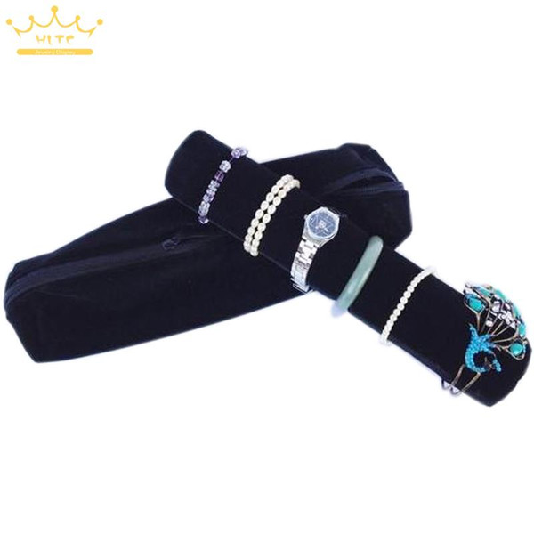 Big sale Popular Organizer Velvet Cloth Portable Travel Jewelry Display Roll Bag Packaging Storage Case for Watches Bracelet Bangle