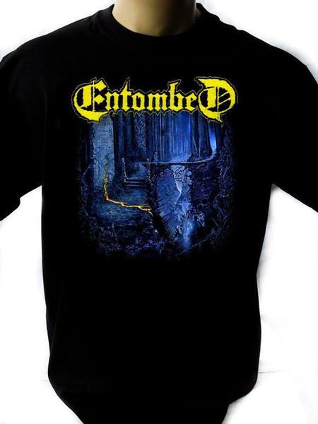 Entombed 01 Mens Black Rock T-shirt NOVOS Tamanhos S-XXXL