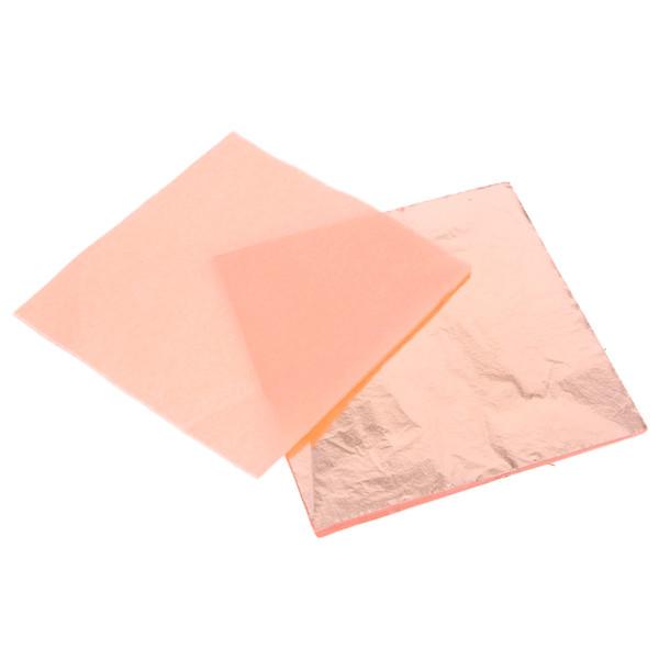 100pcs craft paper Imitation Gold Sliver Copper Leaf Leaves Sheets Foil Paper Art Crafts for Gilding Craft Decoration 14x14cm