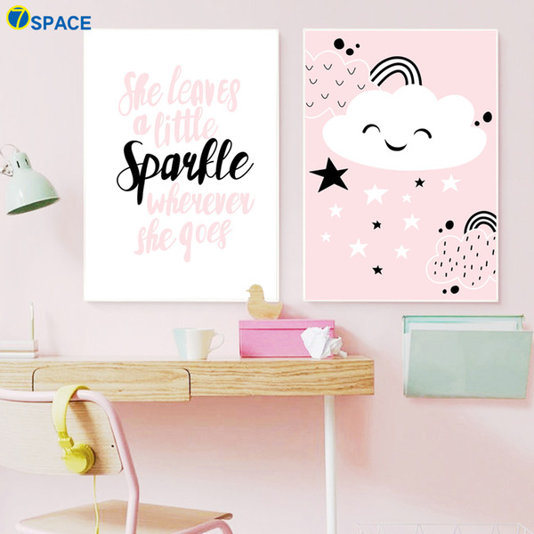 2019 Cloud Quotes Canvas Painting Posters And Prints Wall Art Canvas Prints  Nordic Poster Wall Pictures For Baby Room Decor From Aliceer, $29.1 | ...