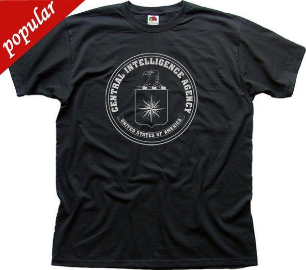 Mode 2018 Sommer CIA Central Intelligence Agency USA Marine schwarz Zink Baumwolle T-Shirt 0263 O-Neck Streetwear Tees