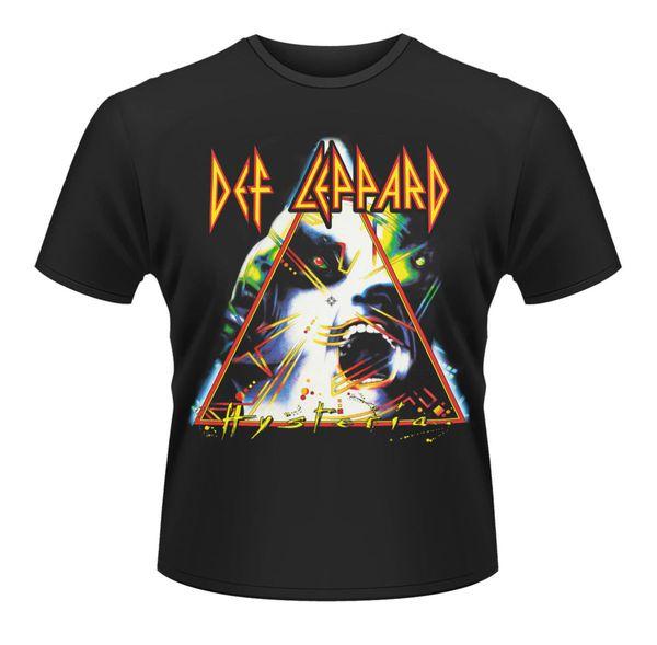 Def Leppard Hysteria Kaya Ağır Metal Lisanslı Tee T-Shirt Erkekler Yenilik O-Boyun Tops Baskılı T Gömlek Yaz Erkekler 'S üst tee