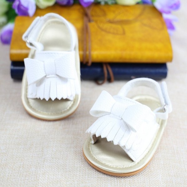 Baby girls cute sandals tassel summer baby sandals soft sole PU child girls shoes non-slip infant soft toddlers kids shoes free shipping