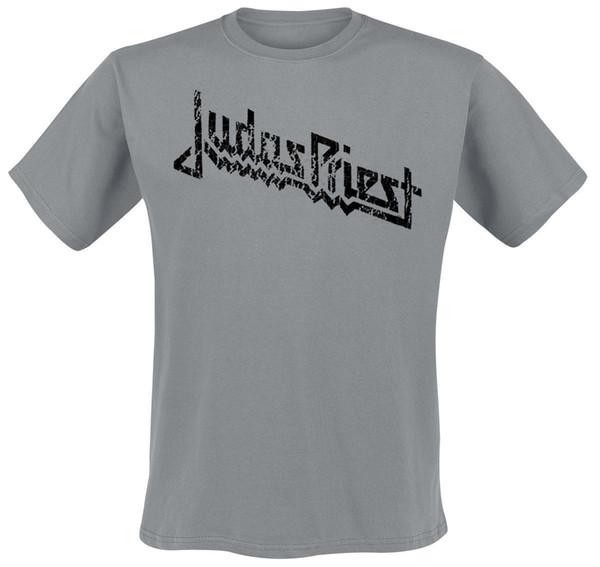 Judas Priest Vintage Logo T-Shirt grey jacket croatia leather tshirt denim clothes camiseta?t shirt
