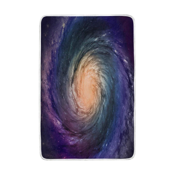 Spiral Galaxy Universe Colorful Blanket Soft Warm Cozy Bed Couch Lightweight Polyester Microfiber Blanket