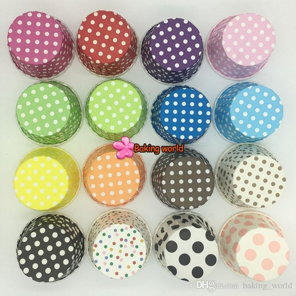 1500pcs Hot selling Round MUFFIN Paper Cake Cup CupCake Case Dots And Stripes Can Be Placed in The Oven