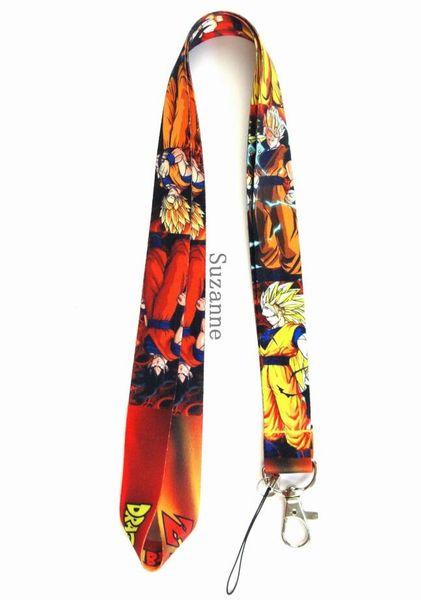 Lot New cartoon Dragon Ball logo Cell Phone Key Chain Neck Strap Keys Lanyards kids gift