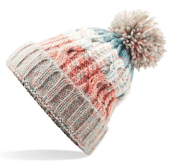 Neue Kabel Gestrickte Bobble-Hut Plain Mens Womens Beanie Warme Winter Pom Wooly Cap Bobble Hüte Damen Erwachsene Kappen Großhandel