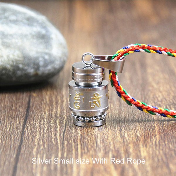 Silver-Small Size-Red Rope