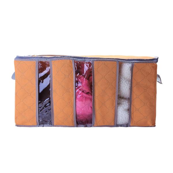 En gros 65L plus grande taille pliable Armoire De Rangement Sac Vêtements Couverture Oreiller Quilt Closet Pull Box Pouch Organiser