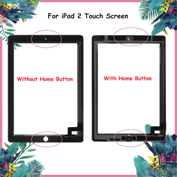 "9.7"" For iPad 2 iPad2 A1395 A1396 A1397 Touch Screen Digitizer Sensor Glass Panel + Home Button Frame Bezel Replacement Aparts"