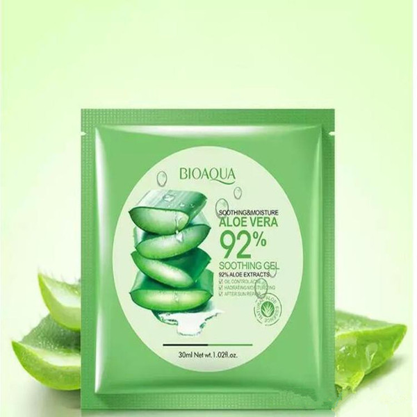 BIOAQUA Natural Aloe Vera Gel Face Mask Moisturizing Oil Control Wrapped Mask Shrink Pores Facial Mask Cosmetic Skin Care