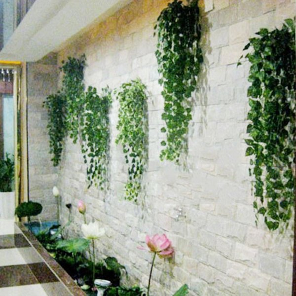 12pcs /Lot Hanging Plant Garland Vivid Artificial Ivy Decor Plastic Hot Green Home Foliage Flower Leaf Party Wedding Decor