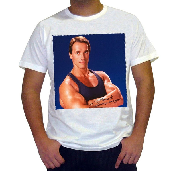 Arnold Schwarzenegger : Men's T-shirt Celebrity Star 2018 New 100% Cotton Top Quality top tee