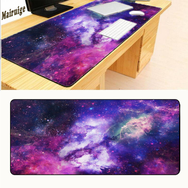 Mairuige 900*400*2MM Luxury Printing Solar System Spaces World The Sun Non Slip Durable Rubber Mousepad for PC Optical