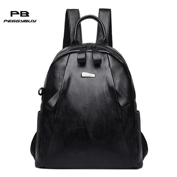 Zaino impermeabile moda moda in pelle con cerniera per uomo / donna borsa da viaggio per studenti borsa da viaggio per borse da viaggio per ragazze adolescenti