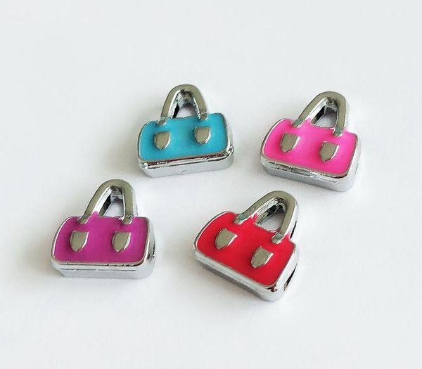 10 pcs 8mm esmalte saco de slides encantos de slides fit diy 8mm pulseiras pulseiras, Pet Coller Cinto Correias