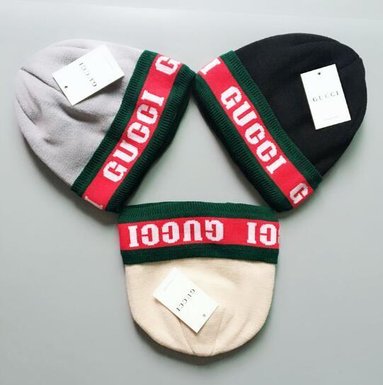 Bonnet de marque de coton pur tricoté hip hop brodé hommes femmes chapeaux d'hiver Casual Head Warmer casquettes extérieures en gros 66716