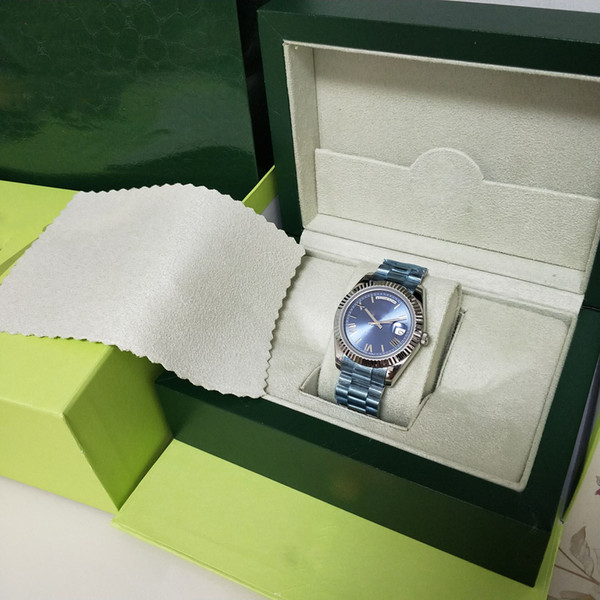 New factory hooting blue roman numeral dial watch men automatic daydate a ia 2813 movement 41mm 228239 with original box diving men watch