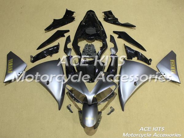 Carenados de motocicleta ACE para YAMAHA YZF R1 2013-2014 Compresión o inyección Cuerpo asombroso gris plata No.1171