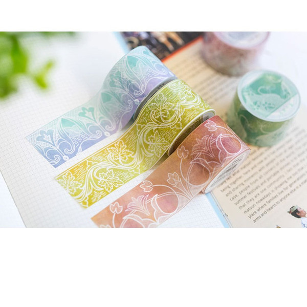 24 pcs/Lot Lace paper washi tape 3cm*5m Decorative masking tapes Diary Notebook Album sticker Stationery School supplies A6004