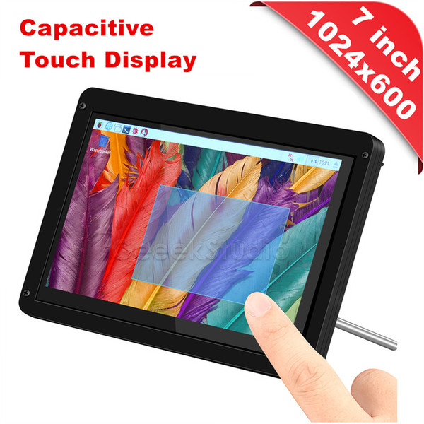 Free Driver Plug Play 7 inch 1024*600 Capacitive Touch Display Screen & Acrylic Support / Case for Raspberry Pi/Windows/Macbook