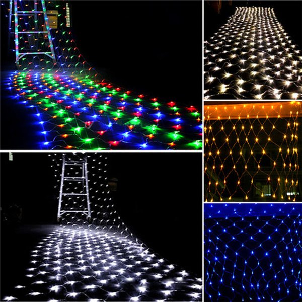 3 m * 2 m 200 LED Net Malha de Fadas de Cordas de Luz Festa de Casamento de Natal Fada Cadeia de Luz com 8 Função Controlador UE / EUA / AU Plug