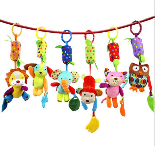 SKK BABY 35cm Baby windbell wind-bell Teether bed Car hanging Rattle Stuffed Plush Doll Toy Toys Bell Ring Infant Puppet Animal