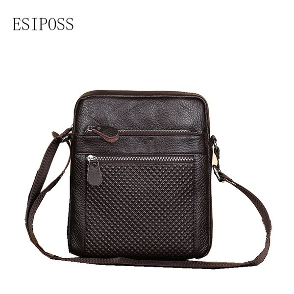 Men handbag genuine leather vertical fashion messenger bag men's business shoulder bag Men's casual leather crossbody