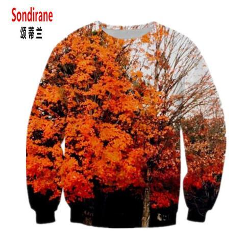 Sondirane New Fashion 3D Printed Nice Tree Leaves Graphic Sweatshirt Long Sleeve Sweat Tops Men Women Casual Pullovers Clothing