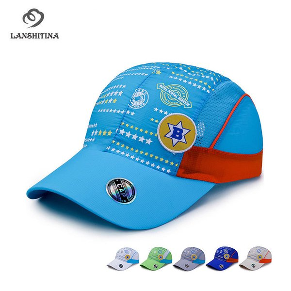 Summer Children's Fast Dry Net Cap Casual Printing Letter Baseball Cap Sport Hat Travel Sunhat for Boys and Girls GH-756
