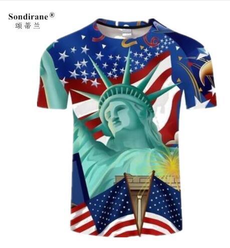 Sondirane American Flag Print 3D T shirts Men Women tshirts Summer Casual Short Sleeve Tee Shirt Hip Hop Tops Funny Clothing