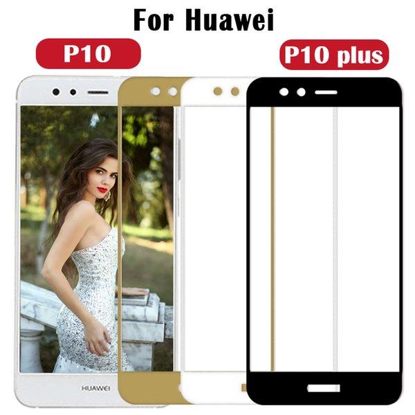 Vidrio templado protector completo para Huawei P10 plus Protector de pantalla para Huawei P10 Cubierta de película de vidrio