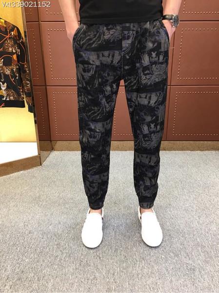 WRD08990BH Latest Men's Jeans 2018 Luxury Designer Brands Fancy Europe Style men fashion