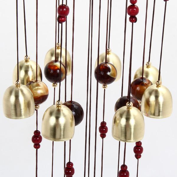 Bronce Grandes Campanas De Viento Metal Carillón Feng Shui Jardín Al Aire Libre Decoración Colgante Decoración De Temporada Decoración Del Hogar