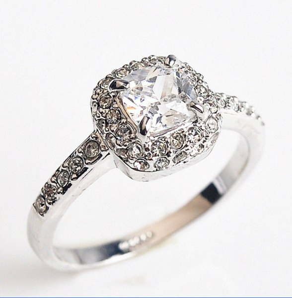 18k white gold filled clean