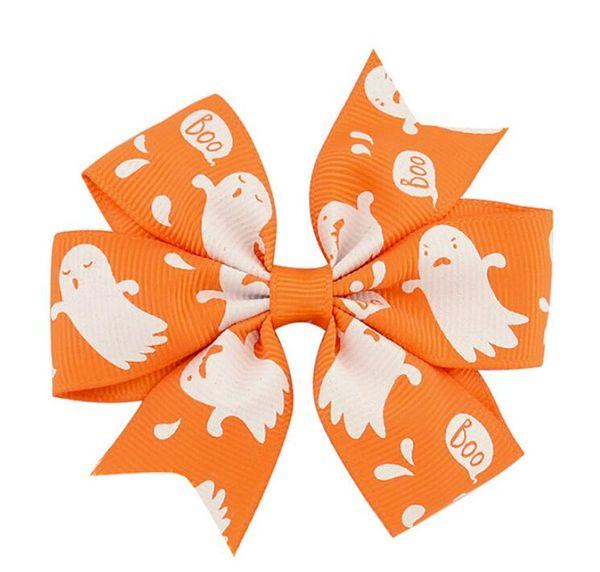 free shipping 20pcs 3''halloween pinwheel hair bows small halloween hair clips holiday hair accessories thanksgiving