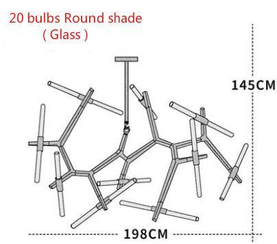 Lampadina rotonda in vetro da 20 lampadine