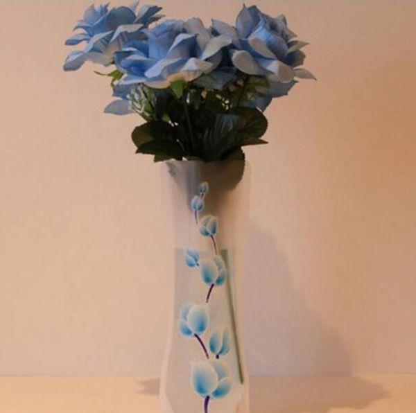 12 * 27 см творческий ясно Эко-складной складной цветок ПВХ ВАЗа небьющиеся многоразовые главная свадьба украшения DHL