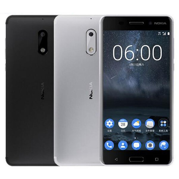 Refurbished Original Nokia 6 5.5 inch Octa Core 4GB RAM 32/64GB ROM 16MP Camera Android 7.0 4G LTE Smart Cell Phone Free DHL 10pcs