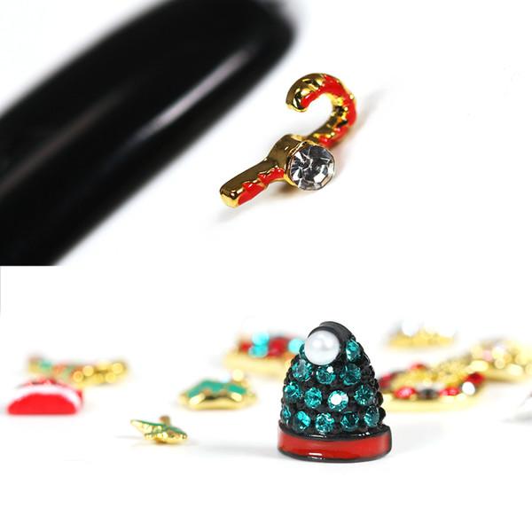 Nuovo 1 scatola di Natale Shell Dazzling Nail Sticker Nail Art Decorazione metallo Diamanti amuleti unghie brillantini strass forniture