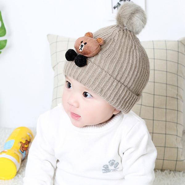 Compre CHESSIECA 2018 Marca Baby Bear Hat Otoño E Invierno Casquillo ...