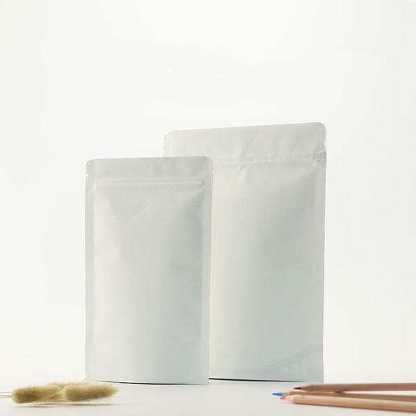 Большие белые пакеты из крафт-бумаги ziplock / Мешки с анти-низкотемпературными рабочими характеристиками / Качественные пакеты для пищевых продуктов