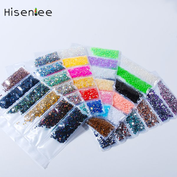 New 2MM 6000PCS High Guality Jelly AB Color Resin Rhinestone Flat Round Shape Fashion 3D Nail Art Jewelry Accessories Decoration