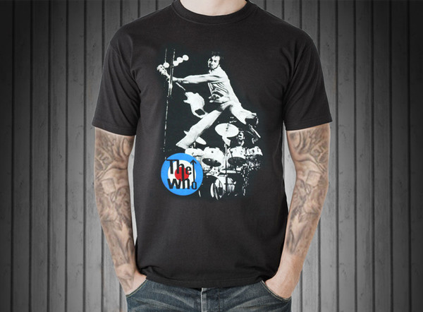 The Who Logo Vintage Retro Graphic T-Shirt Uk English Rock Music Band Tour Sz S To 3XL New 2018 Fashion
