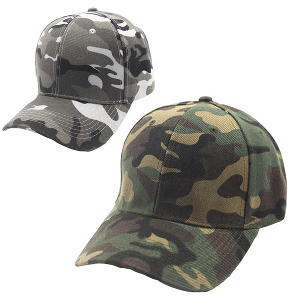 #5 Unisex Camouflage Baseball Cap Snapback Hat Hip-Hop Adjustable Fashion summer