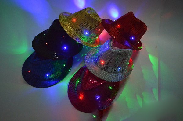 LED Unisex Lighted Up Hat Glow Club Party Baseball Hip-Hop Jazz Dance Led Llights Hat Caps